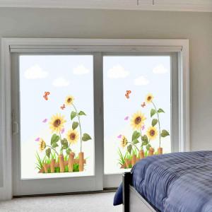Sticker geam floarea soarelui 3