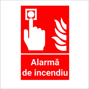 Sticker Indicator Alarma Incendiu