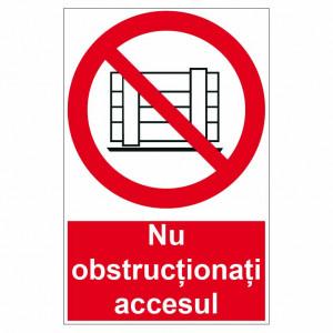 Sticker indicator Nu obstructionati accesul