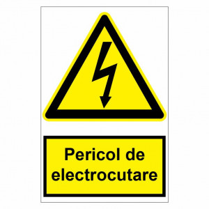 Sticker indicator Pericol de electrocutare