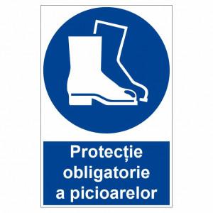 Sticker indicator Protectie obligatorie a picioarelor