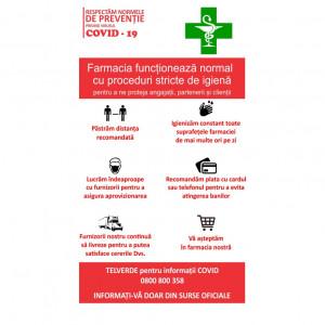 Sticker Indicator Reguli de siguranta Farmacie