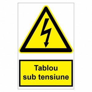 Sticker indicator Tablou sub tensiune