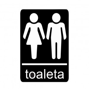 Sticker Indicator Toaleta mixta