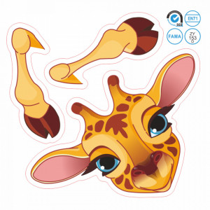 Sticker intrerupator girafa 9 x 10 cm