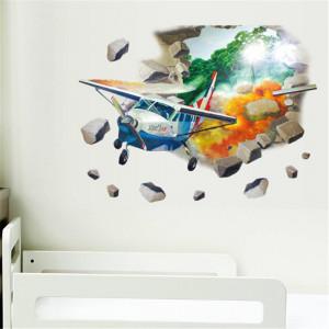 Sticker perete 3D Plane