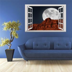 Sticker perete 3D Window Moon