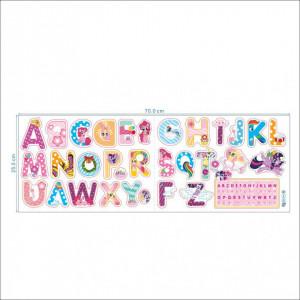 Sticker perete Alfabetul Vesel