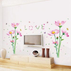 Sticker perete Bees and Flowers