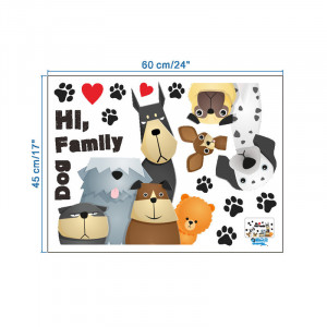 Sticker perete familie de catei 7