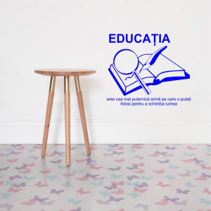Sticker perete Educatia