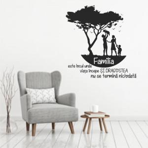 Sticker decorativ cu mesaj - Familia 2