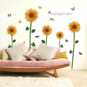 Sticker perete Floarea Soarelui 60 x 90 cm
