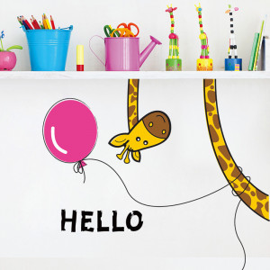 Sticker perete Hello Giraffe