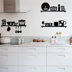 Sticker perete Kitchen Shelves