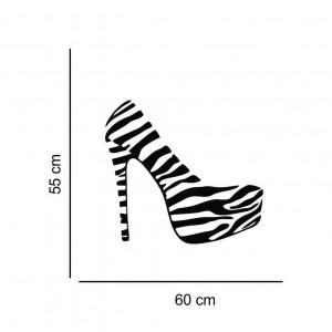 Sticker perete Pantof Zebra