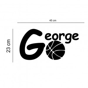 Sticker perete personalizat My Name Boy 4