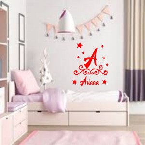 Sticker perete personalizat My Name Girl 12