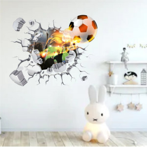 Sticker perete Power Ball 3D 57 x 70 cm