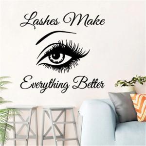 Sticker perete Salon Eyelashes 2