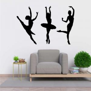 Sticker perete Siluete balerine 2