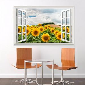 Fereastra Floarea Soarelui 3D 4