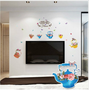 Sticker perete Tea Pots