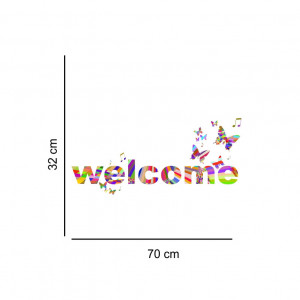 Sticker perete Welcome Curcubeu