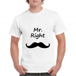 Tricou personalizat barbati alb Mr Right