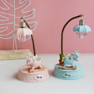 Lampa de veghe Unicorn - albastru