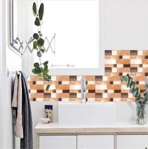 Set stickere decorative faianta Mozaic nuante maro