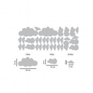 Set stickere perete Norisori Argintii