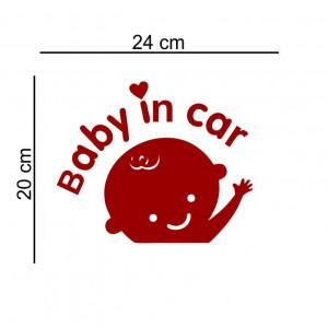 Sticker auto Baby in the Car