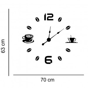 Sticker decorativ ceas Coffee