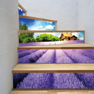 Sticker decorativ scari / perete Camp de Lavanda
