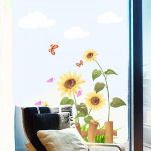 Sticker geam floarea soarelui 4