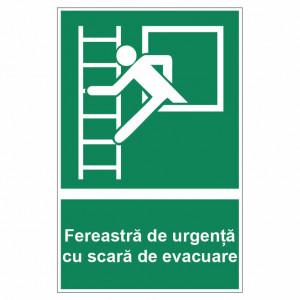 Sticker indicator Fereastra de urgenta cu scara de evacuare