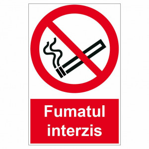 Sticker indicator Fumatul interzis 1