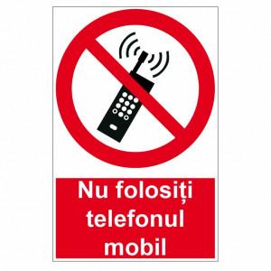 Sticker indicator Nu folositi telefonul mobil