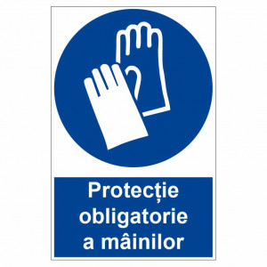 Sticker indicator Protectie obligatorie a mainilor