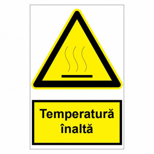 Sticker indicator Temperatura inalta