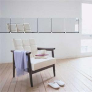 Sticker perete 3D Mirrors Silver 20x20x6