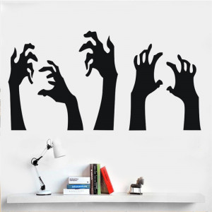 Sticker perete Black Hands
