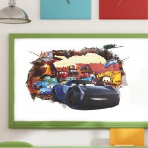 Sticker perete Cars 3D Jackson Storm