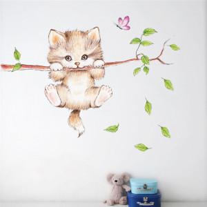 Sticker perete Cat in the tree