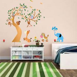 Sticker perete Copacelul cu Animale