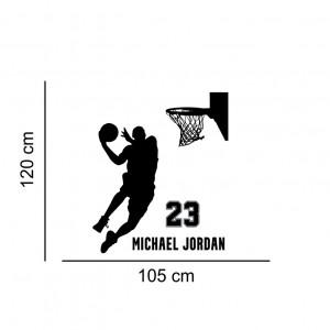 Sticker perete cu Michael Jordan No 23