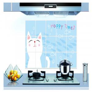 Sticker perete Cute Cat Kitchen Decor