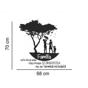 Sticker decorativ cu mesaj - Familia 3