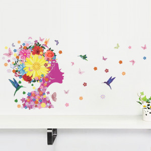 Sticker perete Flowers Magic 50x70cm